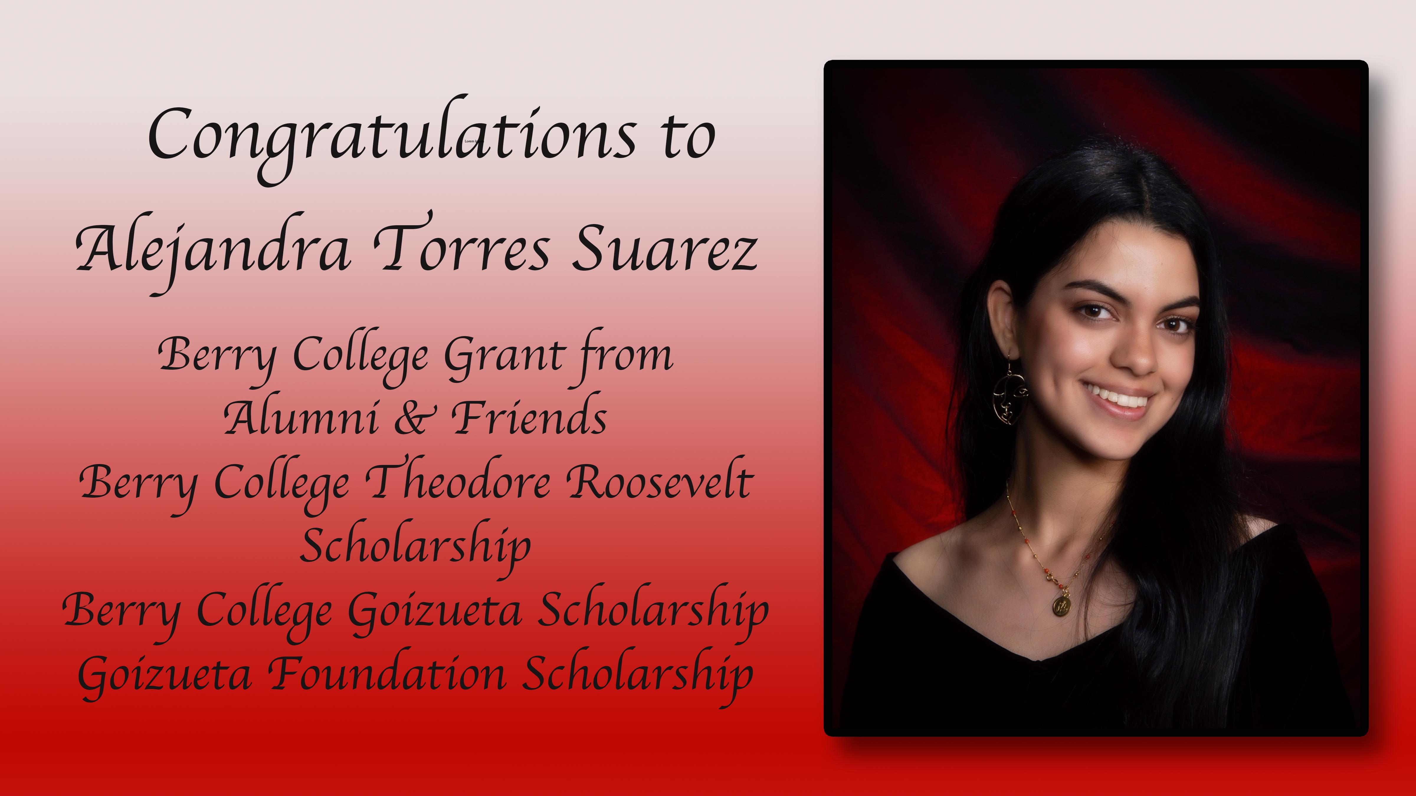 Alejandra Torres Scholarships