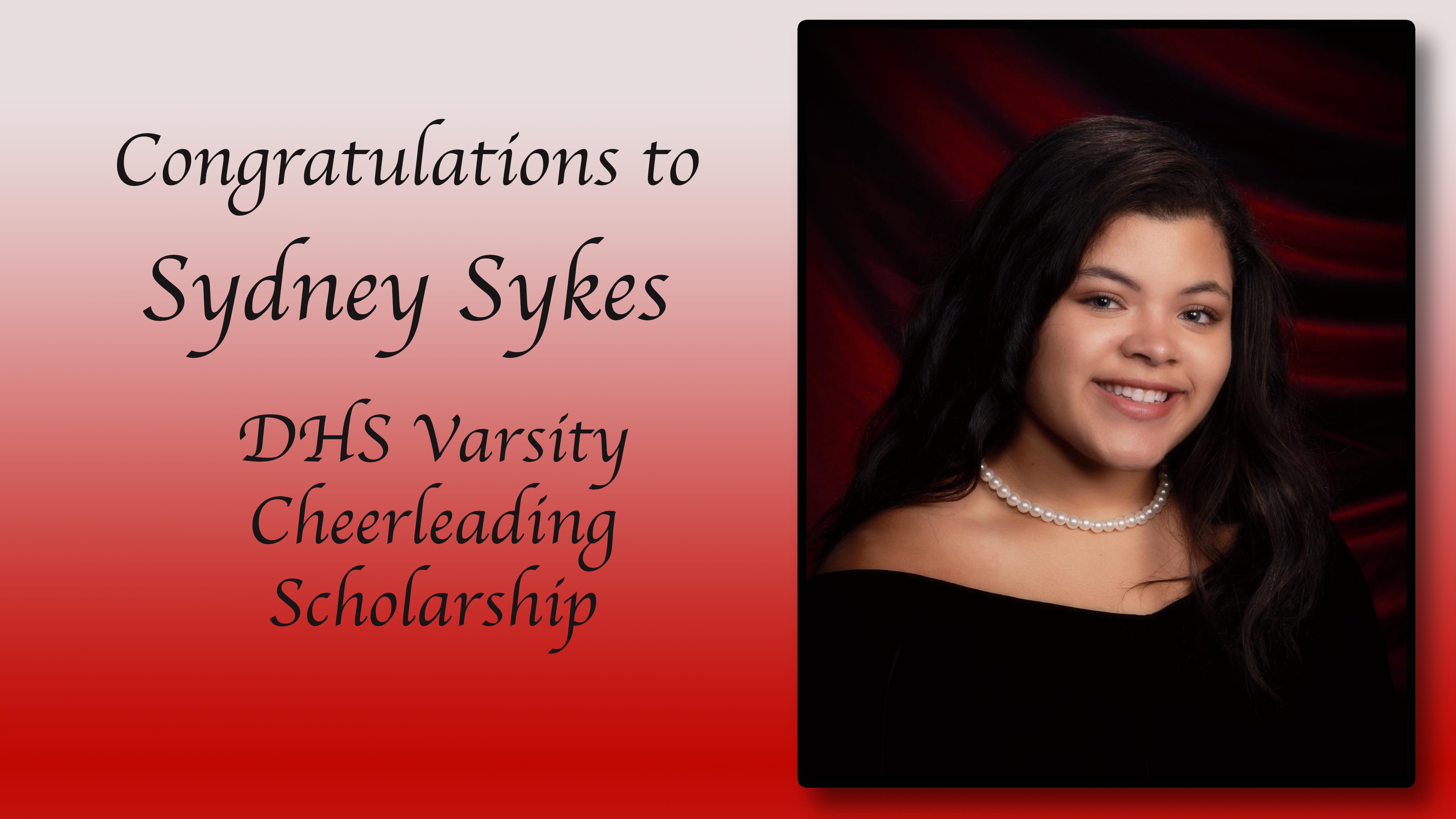 Sydney Sykes scholarship